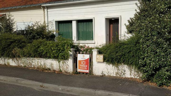 Nouveau panneau de chantier Ocordo pour la rénovation d'une maison à Saint Sébastien sur Loire près de Nantes